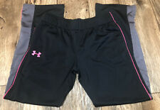 Under Armour Lounge Gym Pants Youth XL Black Pink Gray EUC