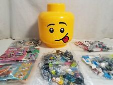 LEGO Head Storage Bin Sealed Parts Bags Minifigs