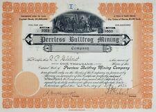 1906 Stock Certificate: Peerless Bullfrog Mining Co. s/b C.P. Gilchrist