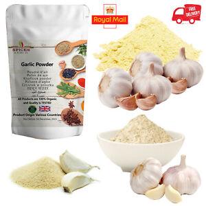 100% Organic Pure Garlic Powder Certified Spices Top Quality Seasonings Free P&P