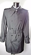 Aquascutum Navy Blue Double Breasted Aquamac Packable Trench Rain Coat XL