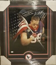 JJ WATT HOUSTON TEXANS AUTOGRAPHED FRAMED 16 × 20. JSA COA.