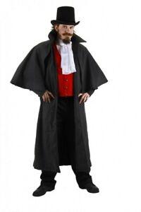 Grey Inverness Steampunk Cloak Cape Costume Halloween ~ NEW