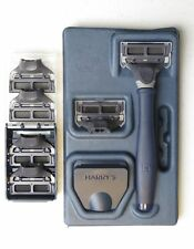Harrys Mens Razor Set with 6 Razor Blades (Navy Blue)