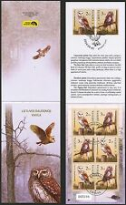 Lithuania 2014 Red Book Birds Owls Booklet Used ! issued 5000 psc.