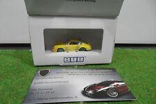 PORSCHE 911 Carrera RS 2.7 jaune au 1/87 TRAIN HO BUB voiture miniature