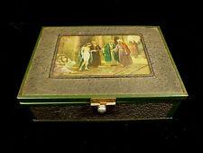FLORIDA CIGAR COMPANY BOX - SLAVE TRADER OR HAREM DECORATIVE LID - CIRCA 1925