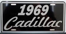 1969 69 CADILLAC METAL LICENSE PLATE ELDORADO COUPE DE VILLE SEDAN FLEETWOOD