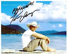 KENNY CHESNEY SIGNED AUTOGRAPHED 8x10 RP PHOTO BEAUTIFUL ISLAND BEACH PICTURE