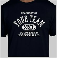 Custom Fantasy Football T-Shirt With Your Team Name Custom FFL Peraonalized