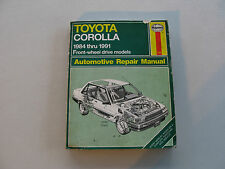 HAYNES #1025 Automotive Repair Manual Book For TOYOTA COROLLA 1984-1991