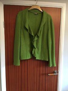 Boiled Wool Blend Jacket  UK 20 lime green