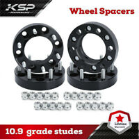 """(4) 1.5"""" Hubcentric Wheel Spacers 5x5.5 Adapters 9/16 Studs For Dodge Ram 1500"""