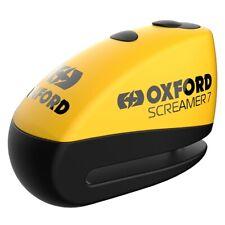 Oxford Screamer7 Alarm Disc Lock Yellow LK290 for Motorcycle Motorbike Secutiry