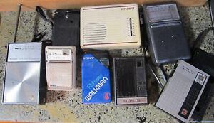 Vintage Lot Realistic Sony Transistor Radio Transette Marvel Panasonic Diplomat