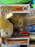 Funko POP! Dragon Ball Z Super Saiyan Vegito AAA Exclusive #491 Vinyl Figure