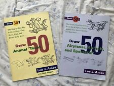 Learn To Draw Animals, Planes, Spaceships Instructional Books