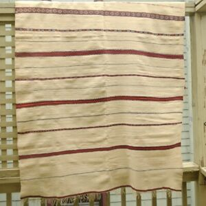 Large, heavy vintage Moroccan tribal blanket