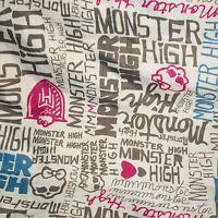 Monster High Twin Sheet Set-microfiber Top & Bottom Sheet Bed Set EUC Pink Black