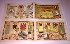 "Vintage paper dolls ""La Cenicienta"" Cinderella, pub. Barcelona, Uncut"