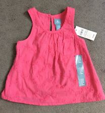 GAP PINK EMBROIDERED SLEEVELESS DRESS WITH PLAIN CROSSOVER BACK -12-18m BNWT