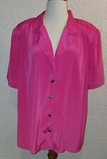 Pink Blouse  by Fitting Image 18W Short Steeve