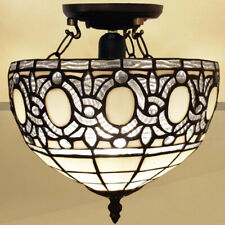 Tiffany Style Electric Ceiling Lights Handcrafted Glass Lounge Hall Home Decor