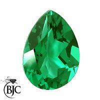 BJC® Loose Natural Green Pear Pippin Tear Drop Cut Emerald Stones Stone