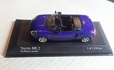 430166960  MINICHAMPS 1:43 SCALE ~TOYOTA MR2 CABRIOLET ~ BLUE METALLIC