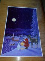 Scandinavian Swedish Tomte Gnome /& Bear Poster Print #12 by Eva Melhuish