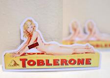 Triangular Milk Chocolate Bar Retro Vintage Pin up Girl Art Decal Sticker #3440