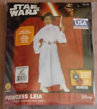 Girls PRINCESS LEIA Costume Medium 8-10 Rubies Star Wars Dress Wig Belt Necklace