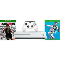 Microsoft Xbox One S 1TB Console – With  NBA 2K19 / FIFA 19 Bundle