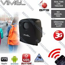 3G GPS Tracker Personal Real Live Tracking Portable Kids Elderly People Free Web