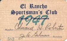 1947 El Rancho Sportsman's Club - Chester, Pennsylvania