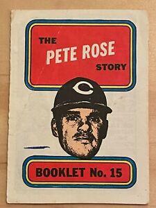 1970 Topps Booklets Pete Rose #15 Cincinnati Reds