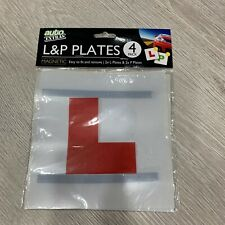 Magnetic L & P Plates 4 Exterior New Pass Car Learner Driver Reusable UK