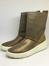 Ecco UKIUK Goretex Girls Metallic Gold Ankle Boots UK Size 2, EU Size 35