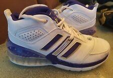 VINTAGE (2007)Adidas Bounce Artillery II Mens SZ 7 White Purple Athletic Shoes