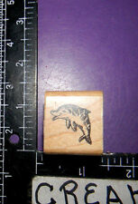 SMALL DOLPHIN RUBBER STAMP STAMPENDOUS A84