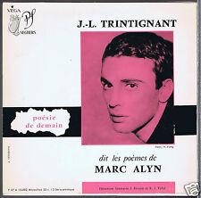 45 RPM EP JEAN LOUIS TRINTIGNANT POEMES DE MARC ALYN