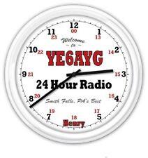 Ham Radio PERSONALIZED SILENT Wall Clock Amateur 24 Hour Shack Garage GREAT GIFT