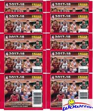 (10) 2017/18 Panini Basketball Sticker Factory Sealed Packs-70 MINT Stickers  !