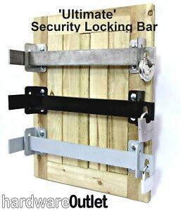 'ULTIMATE' Door SECURITY BAR Pad locking Made In England Shed Garage Workshop