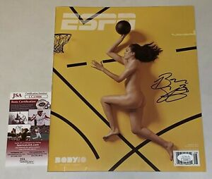 Breanna Stewart Storm signed ESPN The Magazine Body Issue Proof No Label JSA
