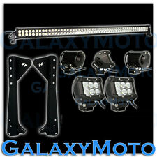 "Off Road Jeep TJ Wrangler 50"" Light Bar Combo+3"" LED Adjustable Spot+Bracket"