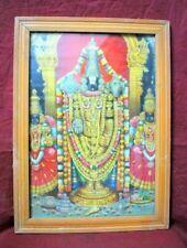 Vintage Old Collectible Hindu God Shri Venktesh Swami Tirupati Balaji Print