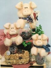 Pattern Primitive Pig Doll Mason Jat Toppers Uncut Oop Krafdee & Co. 2 Sizes