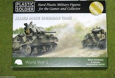 Plastic Soldier Company WW2 ALLIED M4A2 SHERMAN TANK 15mm