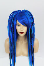 Blue & Black Full Synthetic Dread Wig, 16 - 18 Inches, Unisex, One Size.